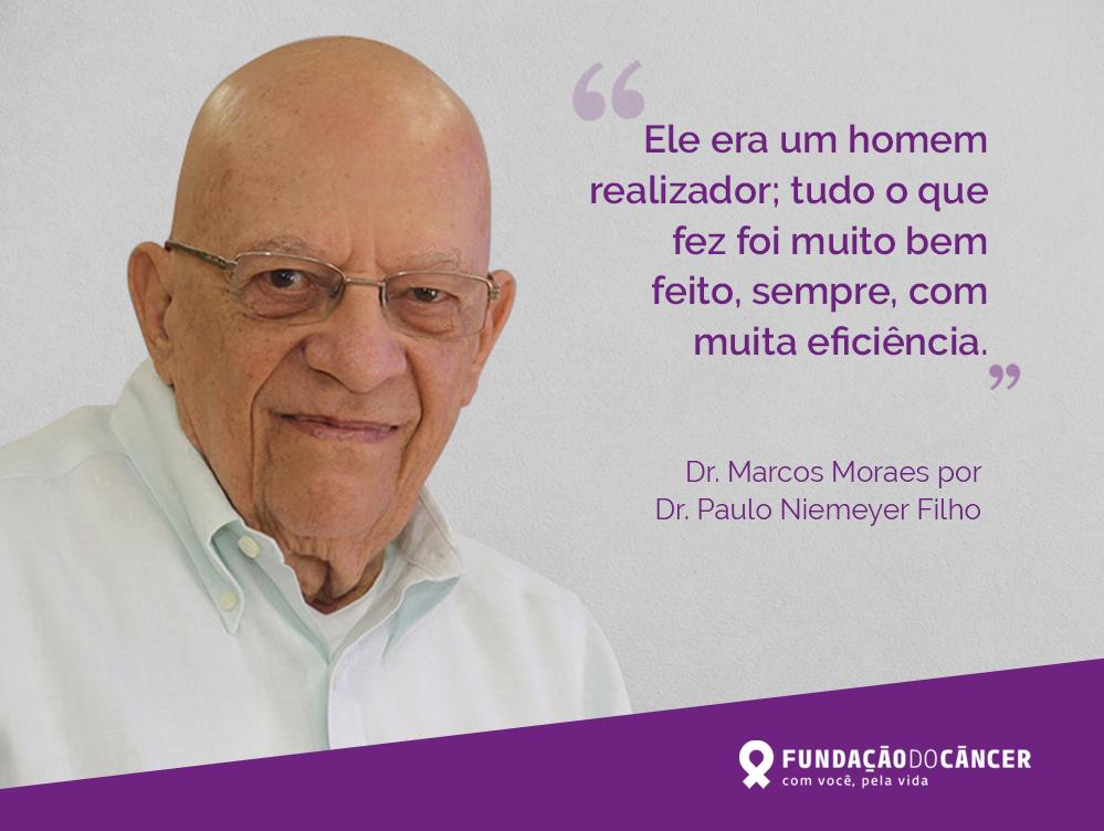 Marcos Moraes: uma vida como legado