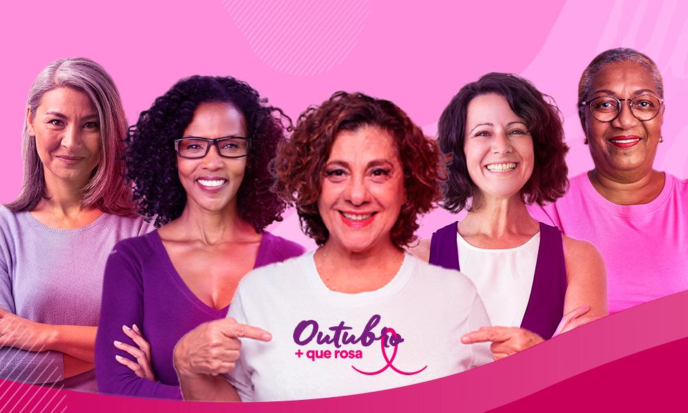 Fundação do Câncer faz campanha pela saúde da mulher neste Outubro Rosa. Vacina contra HPV, realização de mamografia e outros exames preventivos são o alerta para vida saudável!